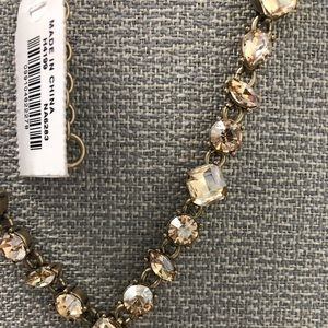 J crew Brand New Necklace- Champagne Stones